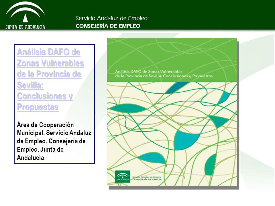 Análisis DAFO de Zonas Vulnerables de la Provincia de Sevilla: Conclusiones y Propuestas Área de Cooperación Municipal.