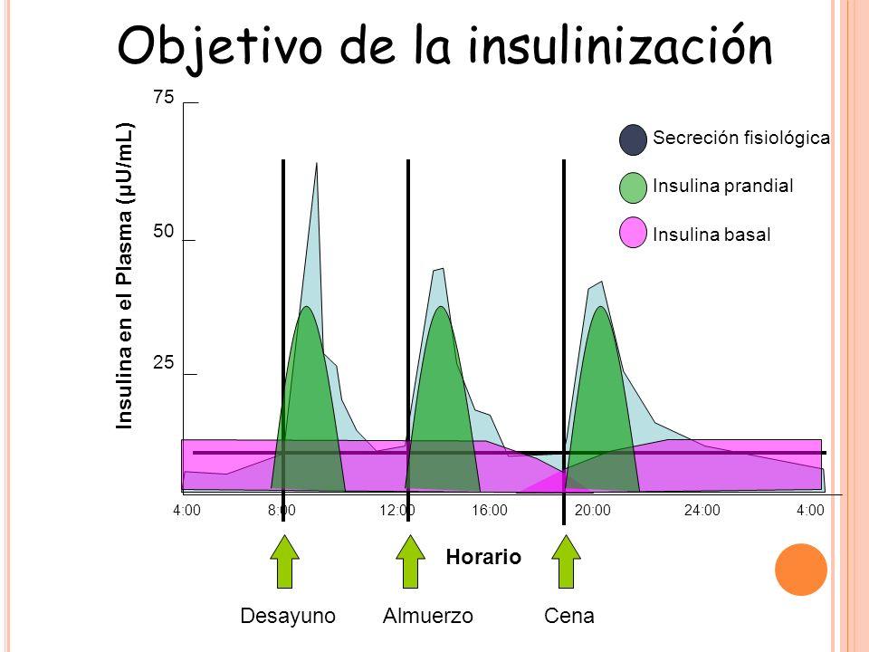 Objetivo de la insulinización