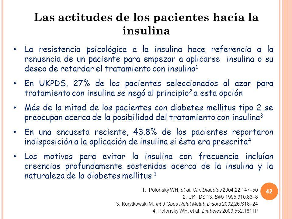 Las actitudes de los pacientes hacia la insulina