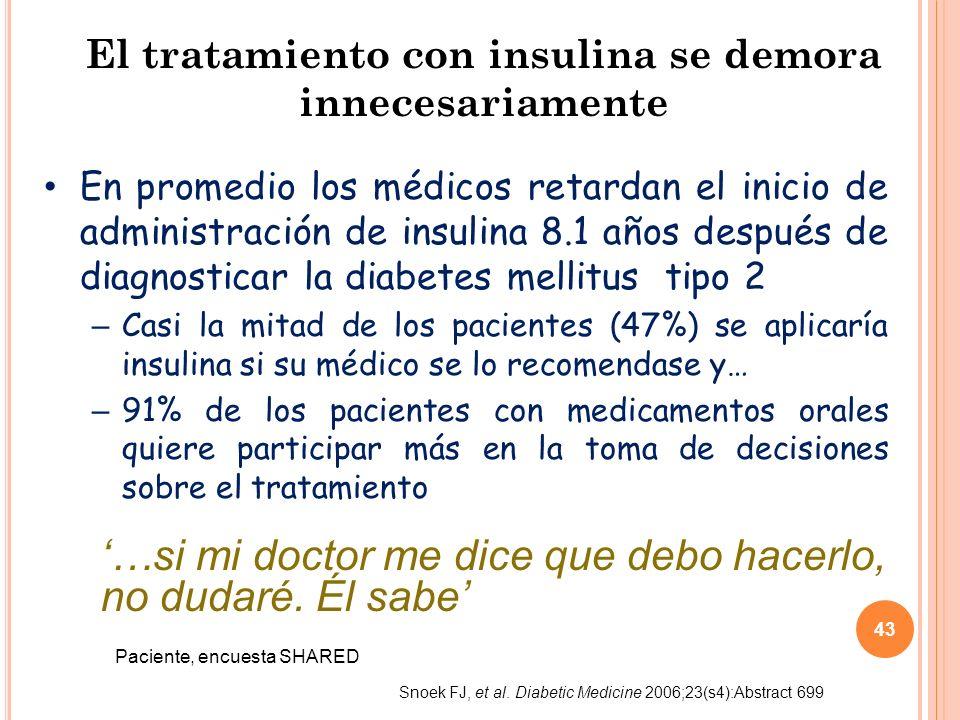 El tratamiento con insulina se demora innecesariamente