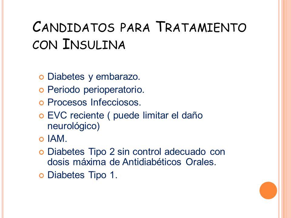 Candidatos para Tratamiento con Insulina