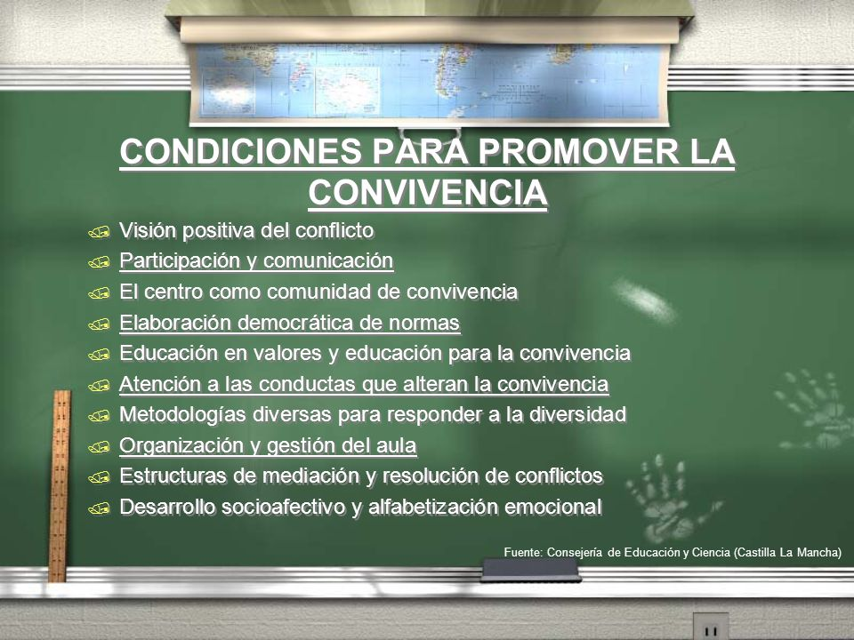CONDICIONES PARA PROMOVER LA CONVIVENCIA