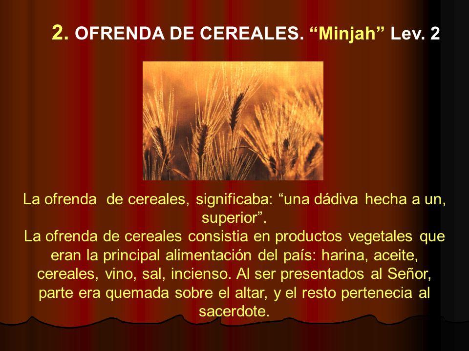 2. OFRENDA DE CEREALES. Minjah Lev. 2