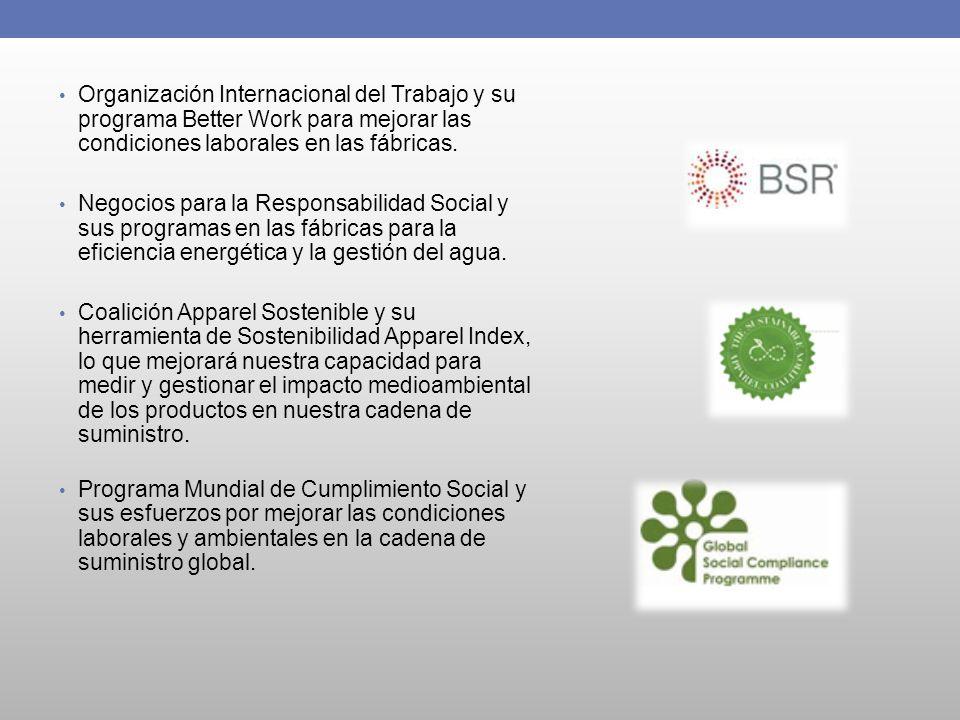 Organización Internacional del Trabajo y su programa Better Work para mejorar las condiciones laborales en las fábricas.