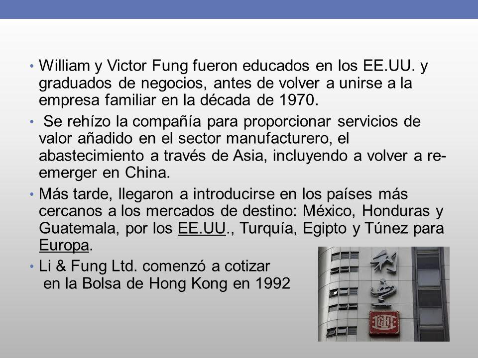 William y Victor Fung fueron educados en los EE. UU