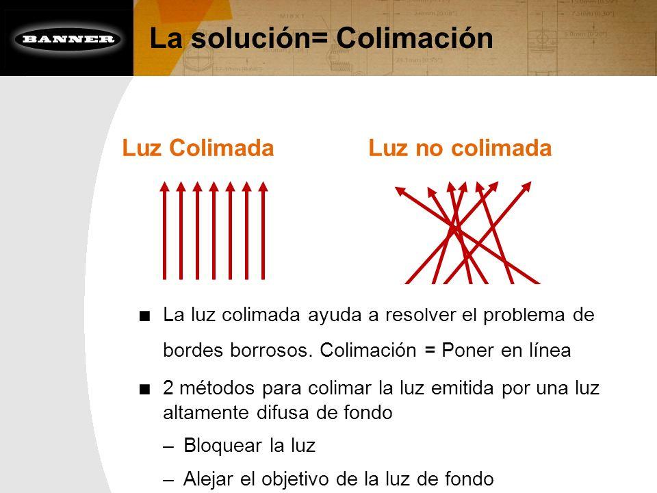 La solución= Colimación