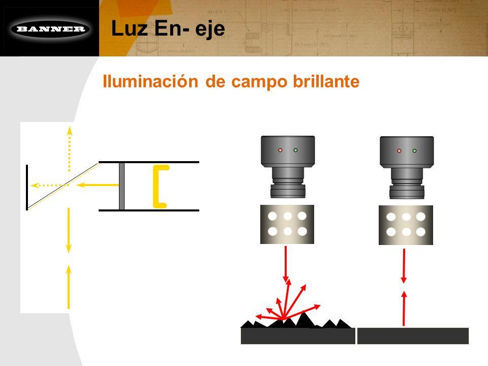 Luz En- eje Iluminación de campo brillante