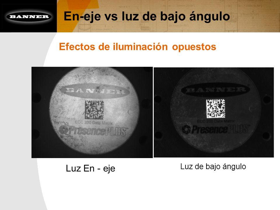 En-eje vs luz de bajo ángulo