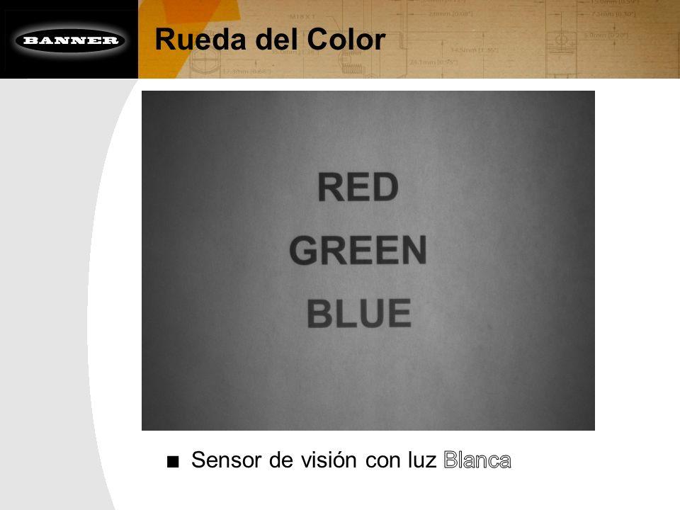 Rueda del Color Sensor de visión con luz Blanca