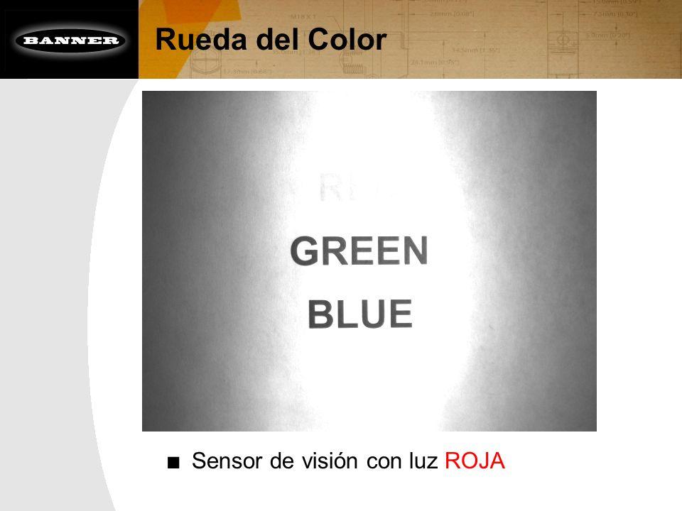 Rueda del Color Sensor de visión con luz ROJA