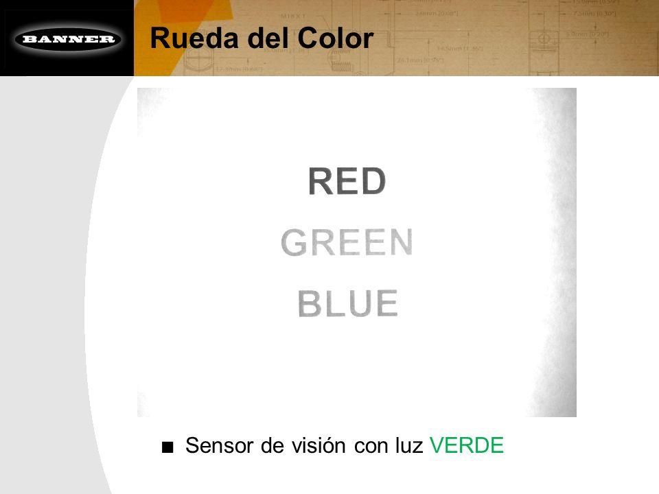 Rueda del Color Sensor de visión con luz VERDE