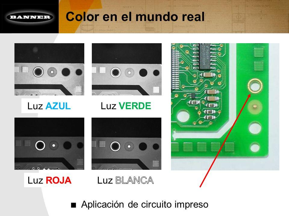 Color en el mundo real Luz AZUL Luz VERDE Luz ROJA Luz BLANCA