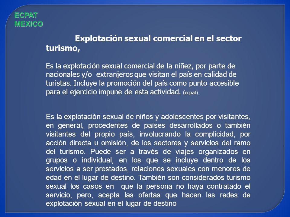 Explotación sexual comercial en el sector turismo,