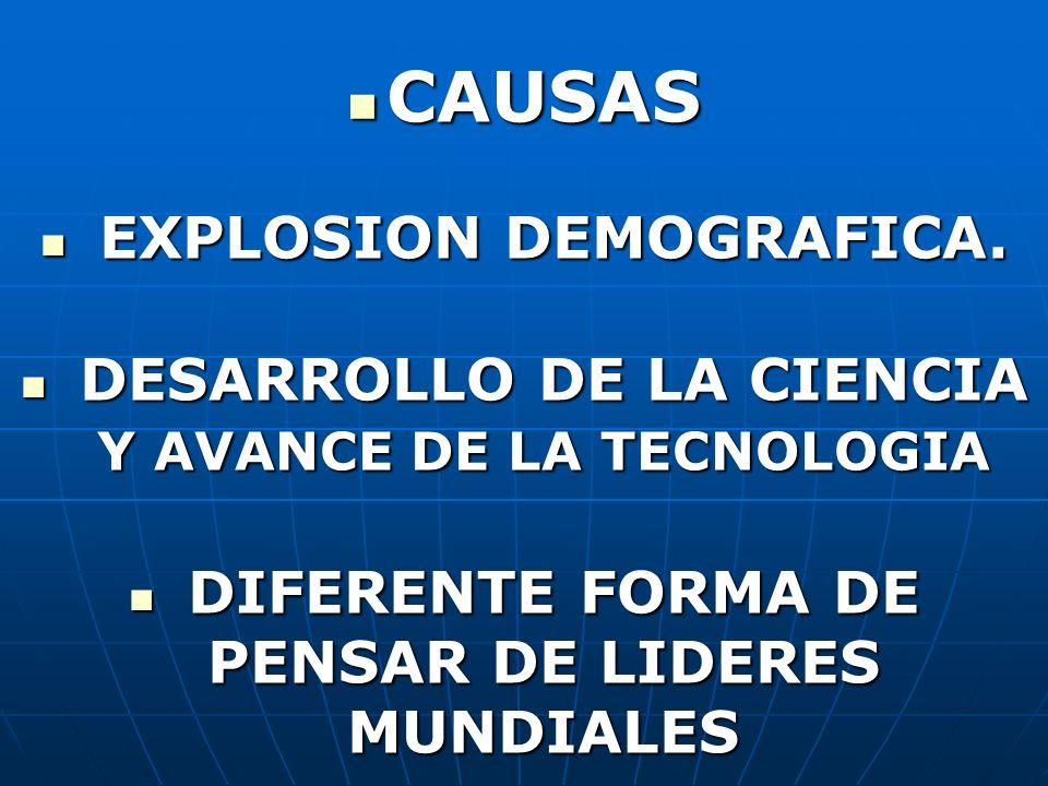 CAUSAS EXPLOSION DEMOGRAFICA.
