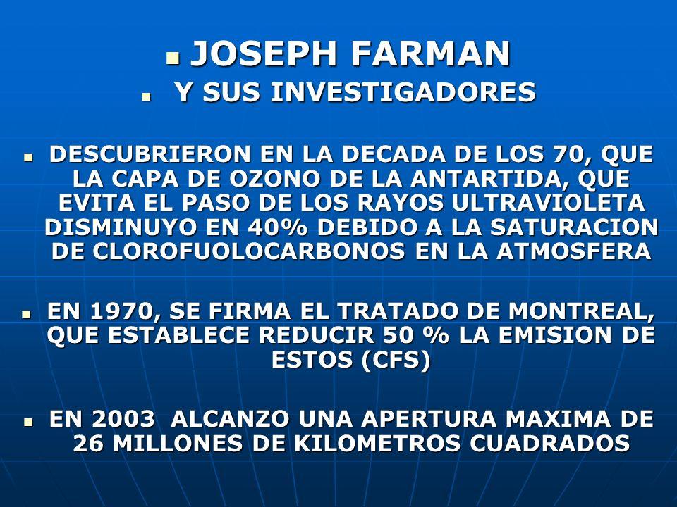 JOSEPH FARMAN Y SUS INVESTIGADORES