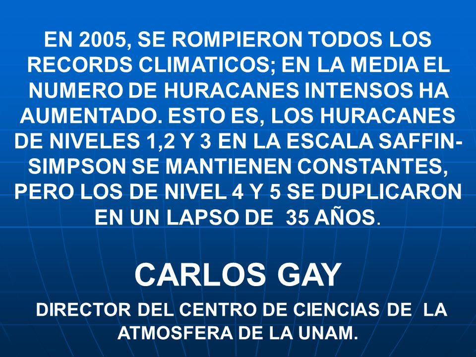 DIRECTOR DEL CENTRO DE CIENCIAS DE LA ATMOSFERA DE LA UNAM.