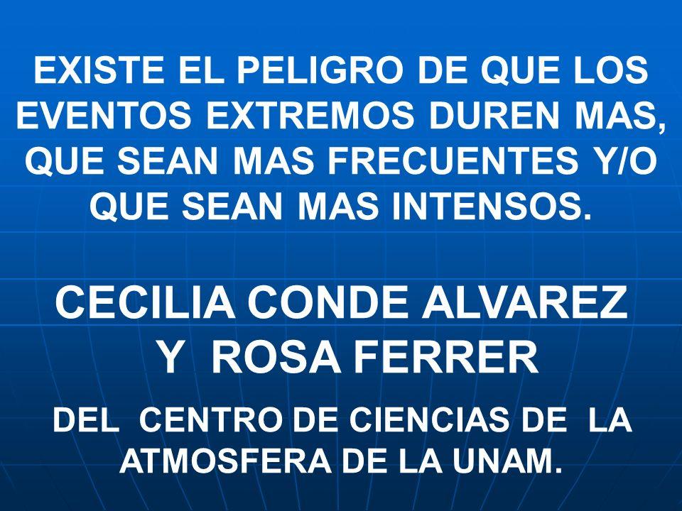 DEL CENTRO DE CIENCIAS DE LA ATMOSFERA DE LA UNAM.