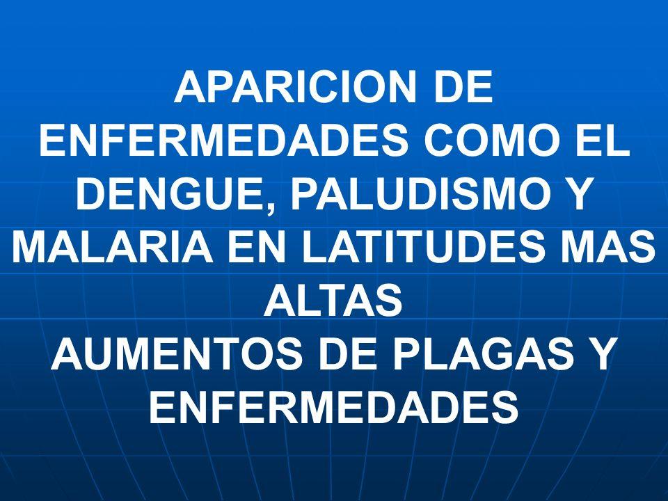 AUMENTOS DE PLAGAS Y ENFERMEDADES