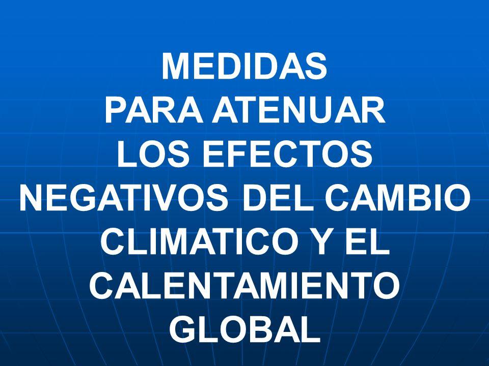 LOS EFECTOS NEGATIVOS DEL CAMBIO CLIMATICO Y EL CALENTAMIENTO GLOBAL