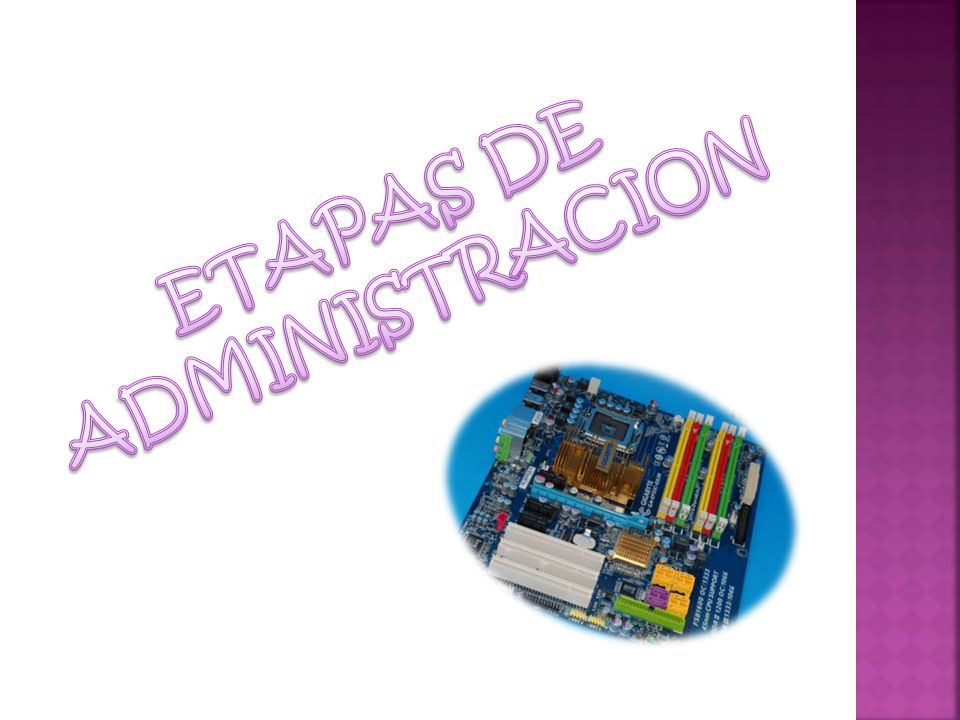ETAPAS DE ADMINISTRACION