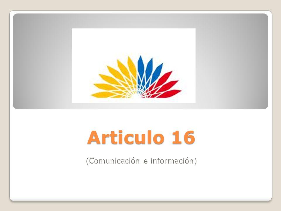 (Comunicación e información)