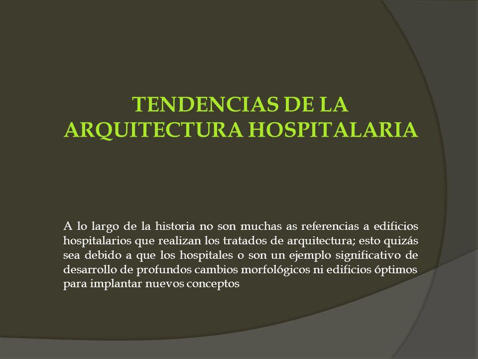 TENDENCIAS DE LA ARQUITECTURA HOSPITALARIA