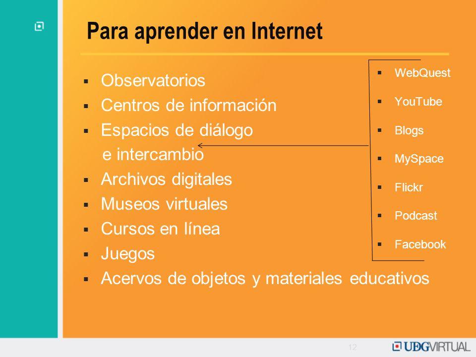 Para aprender en Internet