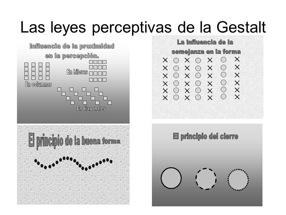 Las leyes perceptivas de la Gestalt