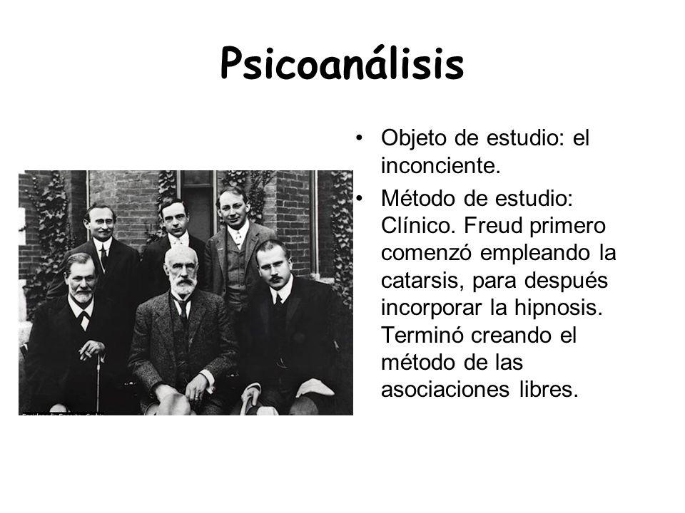 Psicoanálisis Objeto de estudio: el inconciente.