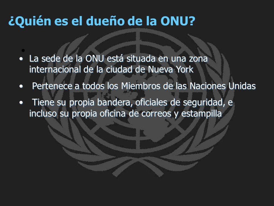 ¿Quién es el dueño de la ONU