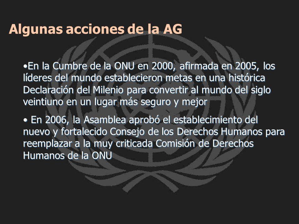 Algunas acciones de la AG
