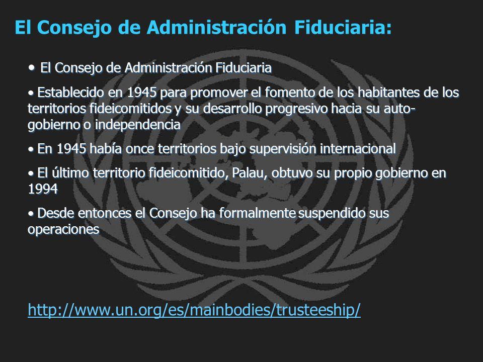 El Consejo de Administración Fiduciaria: