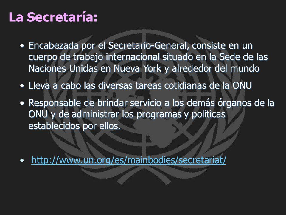 La Secretaría: