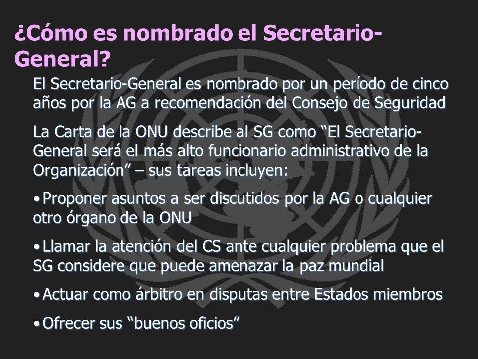 ¿Cómo es nombrado el Secretario-General