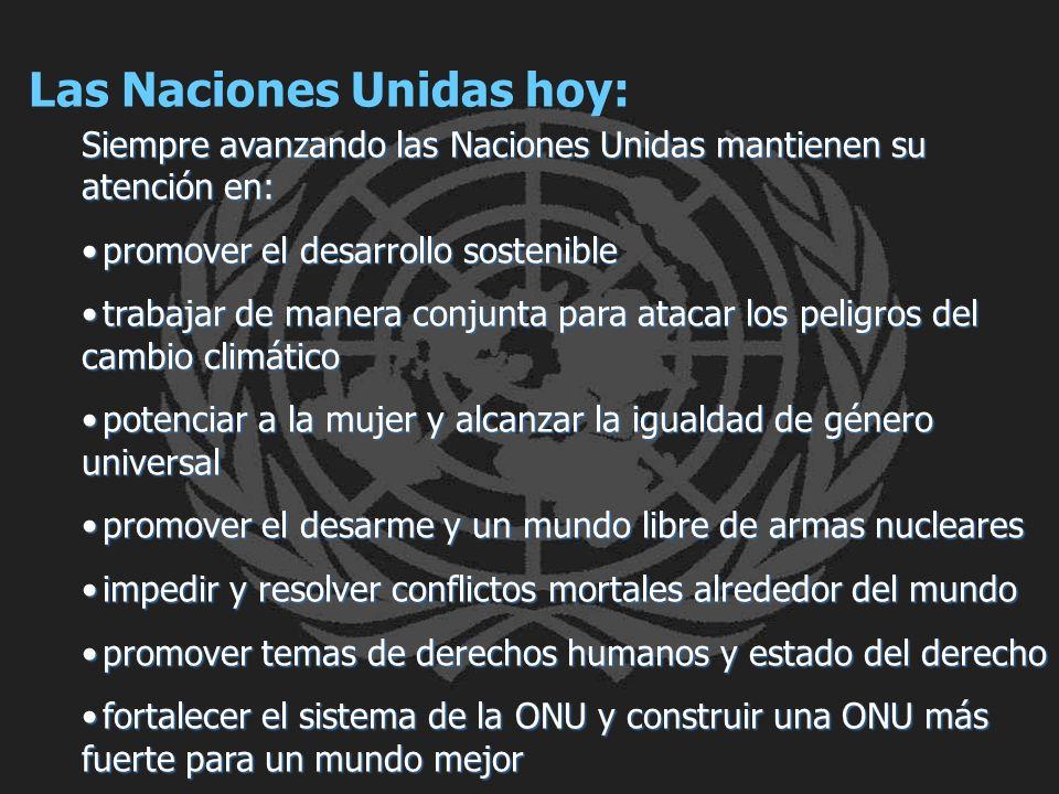 Las Naciones Unidas hoy: