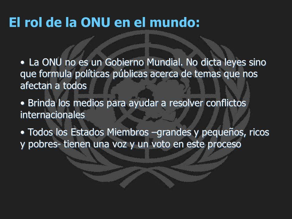 El rol de la ONU en el mundo: