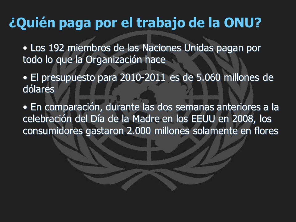 ¿Quién paga por el trabajo de la ONU