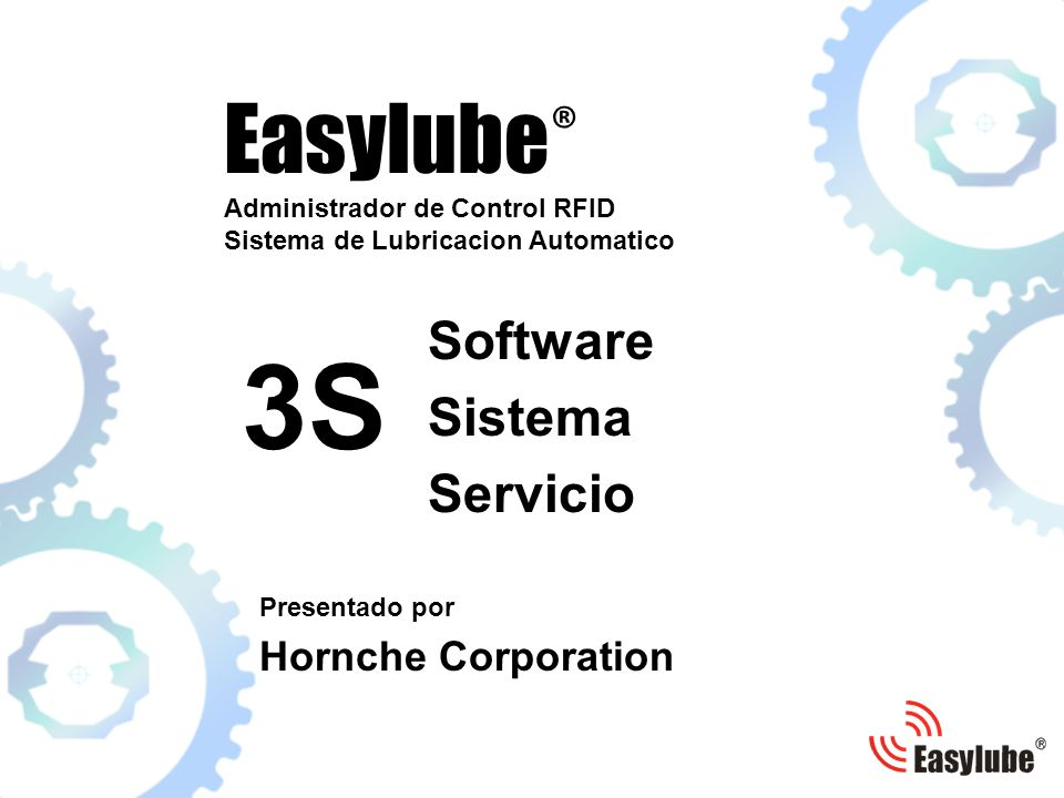 3S Easylube® Software Sistema Servicio Hornche Corporation
