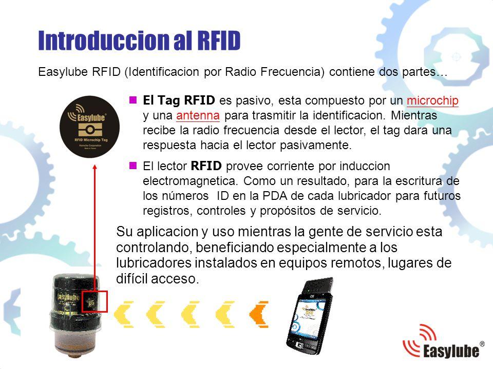 Introduccion al RFID Easylube RFID (Identificacion por Radio Frecuencia) contiene dos partes…