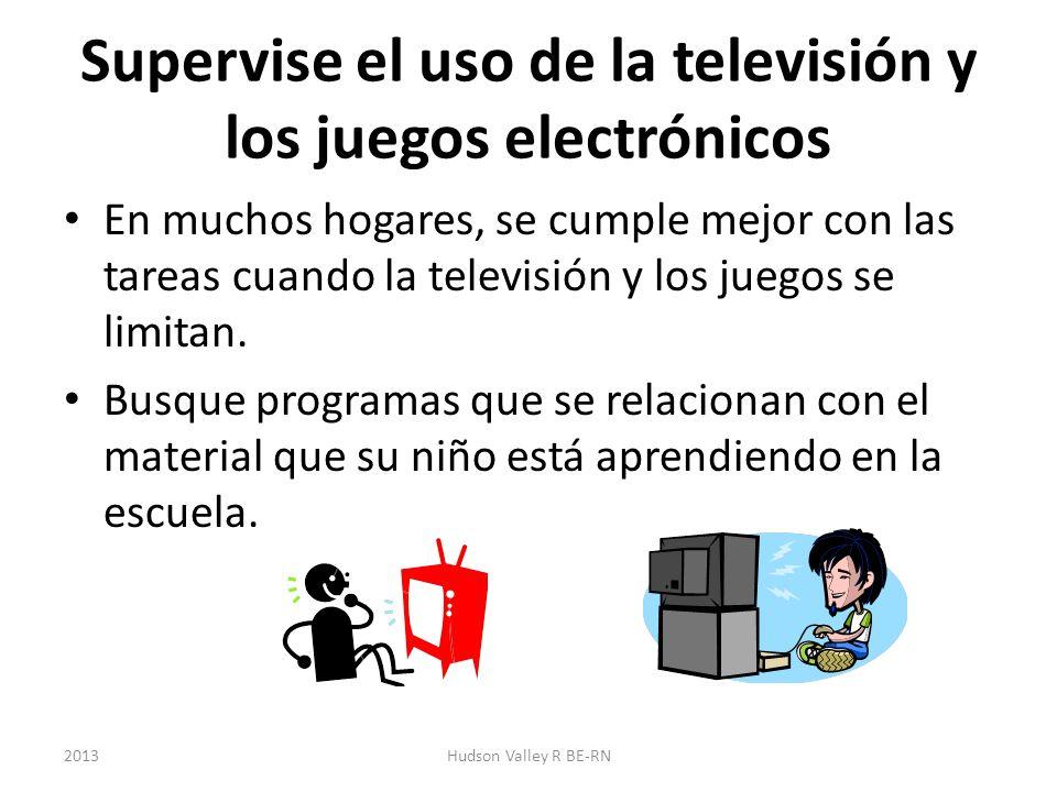 Supervise el uso de la televisión y los juegos electrónicos