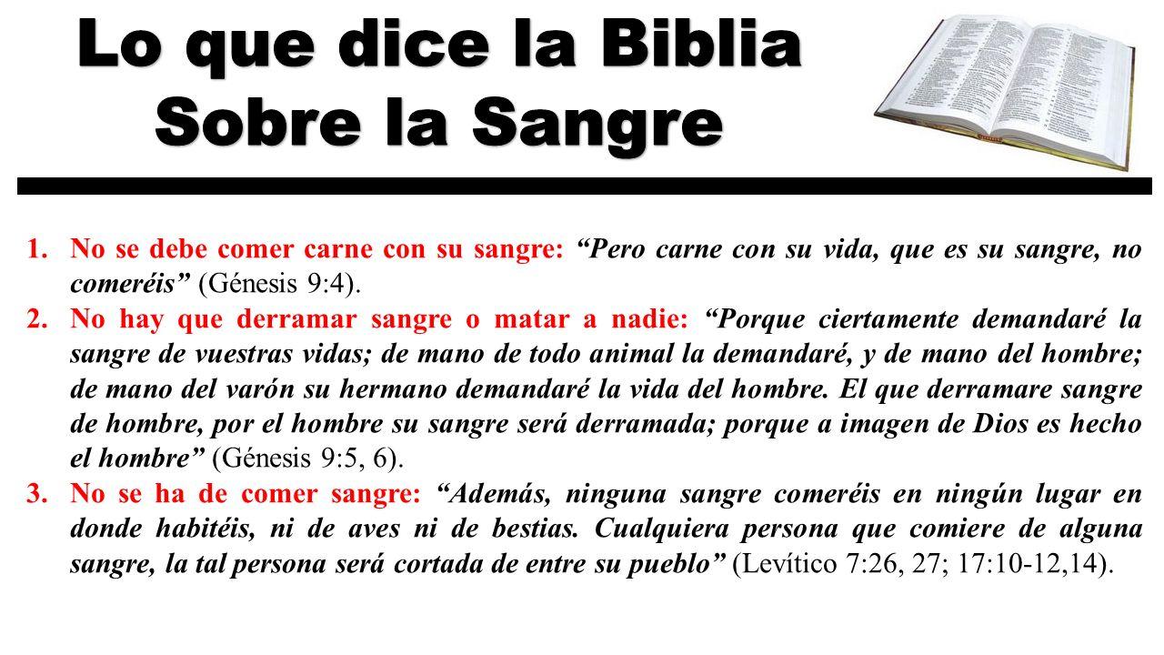 Lo que dice la Biblia Sobre la Sangre