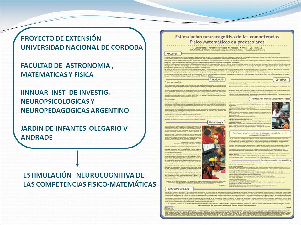 PROYECTO DE EXTENSIÓN UNIVERSIDAD NACIONAL DE CORDOBA. FACULTAD DE ASTRONOMIA , MATEMATICAS Y FISICA.