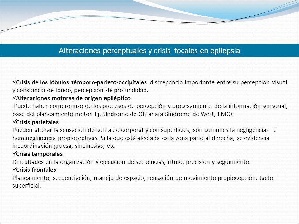 Alteraciones perceptuales y crisis focales en epilepsia