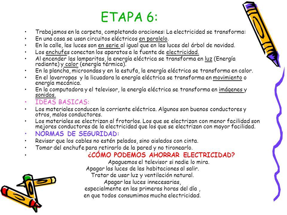 ETAPA 6: IDEAS BASICAS: NORMAS DE SEGURIDAD: