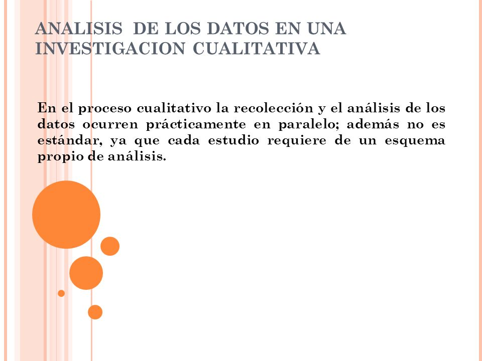 ANALISIS DE LOS DATOS EN UNA INVESTIGACION CUALITATIVA