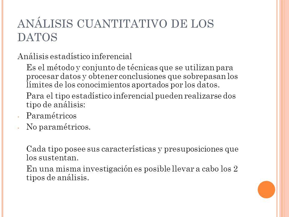 ANÁLISIS CUANTITATIVO DE LOS DATOS
