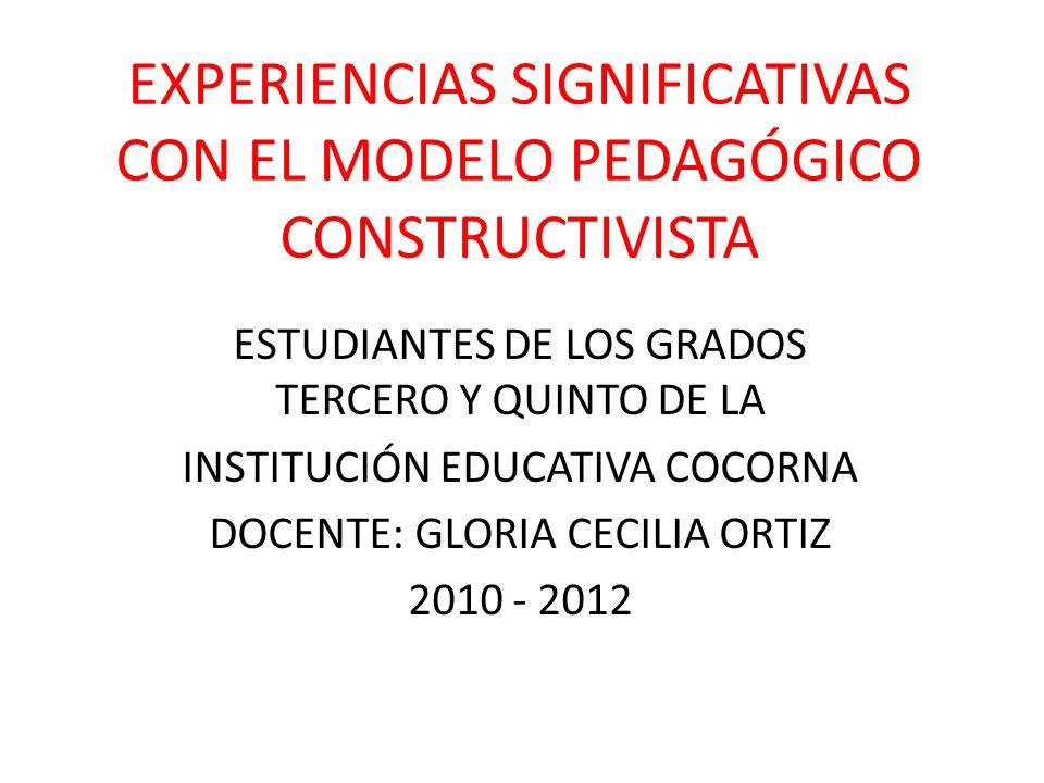 EXPERIENCIAS SIGNIFICATIVAS CON EL MODELO PEDAGÓGICO CONSTRUCTIVISTA