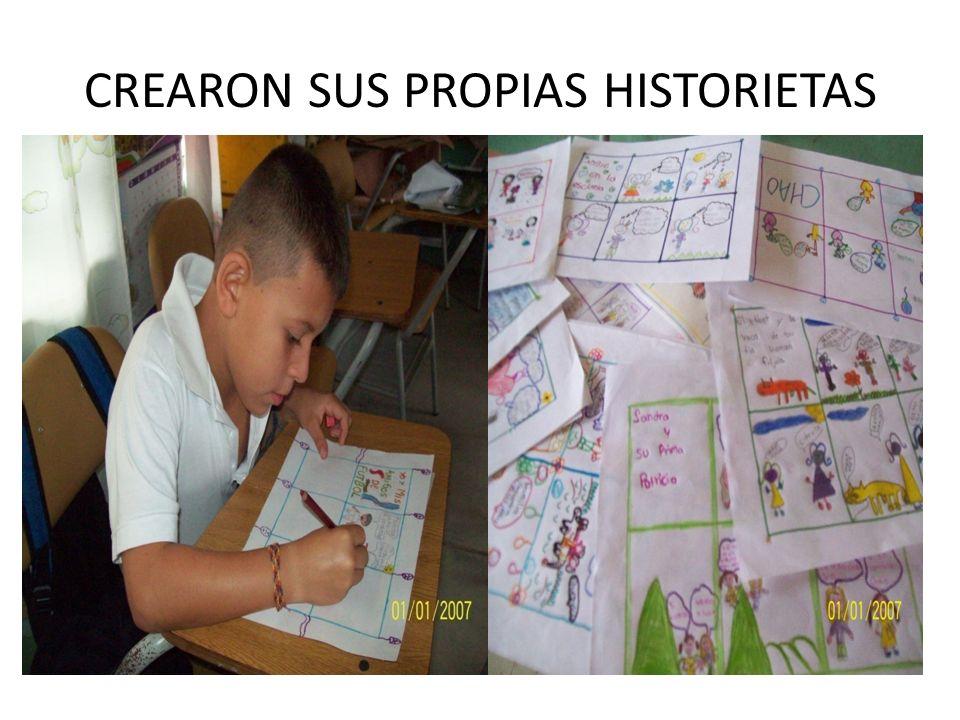 CREARON SUS PROPIAS HISTORIETAS