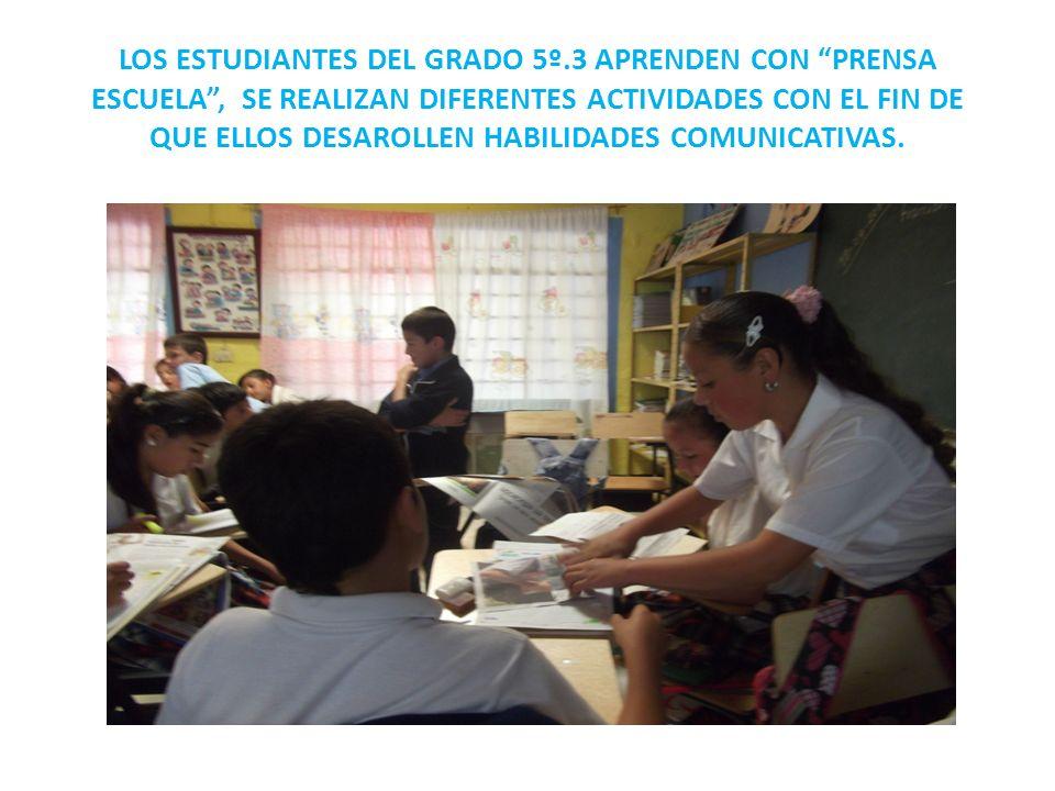 LOS ESTUDIANTES DEL GRADO 5º