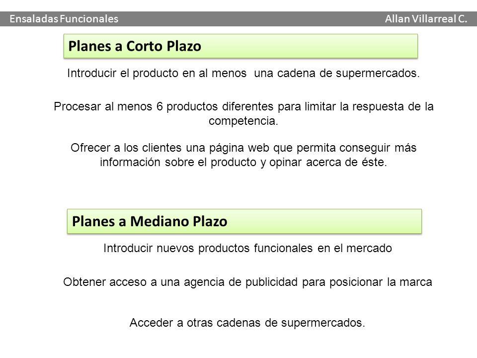 Planes a Corto Plazo Planes a Mediano Plazo